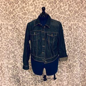 Tommy Hilfiger cropped jean jacket sz16 Like New